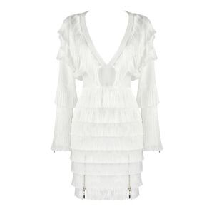 Dresses & Skirts - White Fringe Bandage Dress